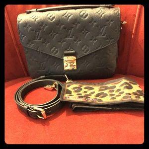 Louis Vuitton Metis Bag/ LV Leopard Print Scarf